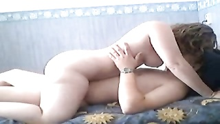 Afternoon delight of Fat Chubby Teen GF riding her BF