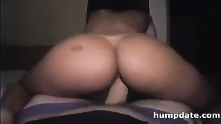Big ass girlfriend enjoys some anal sex