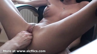My hot girlfriend loves having her huge pussy fisted till she orgasms
