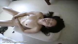 Asian girl enjoying herself
