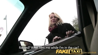 FakeTaxi Prague blonde with a great ass and tits