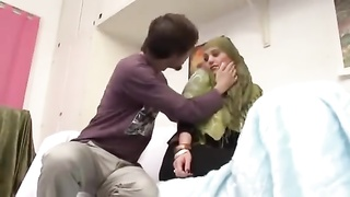 245056Devout Pakistani Muslim Lady in Green Hijab cannot resist Big Western Cocks