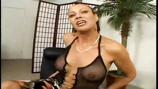 Housewife undressed and nailed by cock