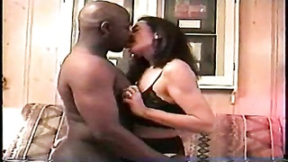 He likes to see his wife take black cock