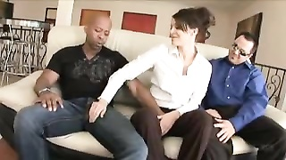 Wife goes for black cock while husband watches