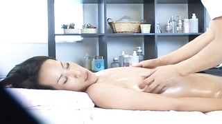 Asian wife fucked by her masseuse