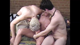 Carol Cox with two male fans, hard anal, and lots of fun!