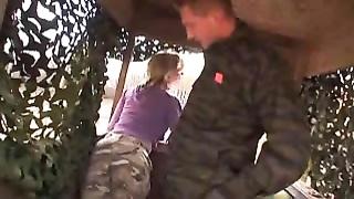 Honey having fun in a huntingtower.