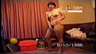 Drunk wife getting naked for her husbands friends