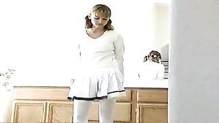 Tiny Teen Housekeeper Gets Double Creampied !