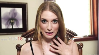 Nasty american babe enjoys fetching blowjob
