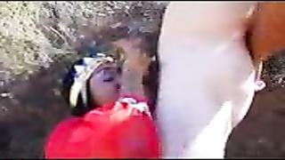 Ebony Arab Teen Attached In Abandon