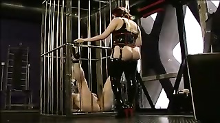 Latex femdom and fuck-slave hottie
