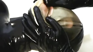 Girl in Breathplay Tied and Made to Orgasm