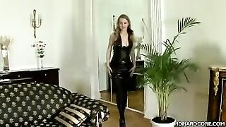Savage Cutie In Latex Anal-sex Had Sex And Licks Manhood