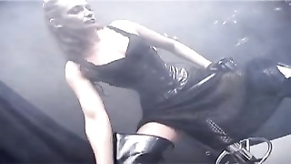 Domme exactly the gimps place.with Strapon