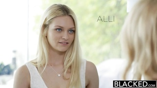 BLACKED Blond Best Friends Forever Cadence Lux and Alli Rae Share a giant BB