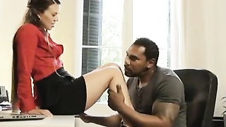 Interracial Office Threesome