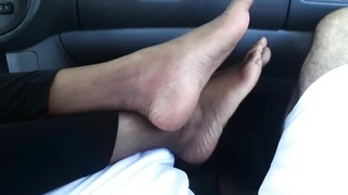 Foot fetish- Indian soles (Sexy footjob, toes and toe tease)
