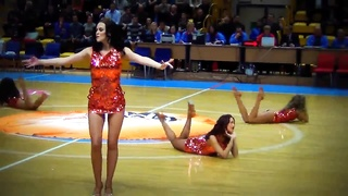 Fascinating Russian Cheerleaders Sexy Dance
