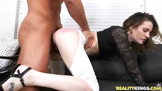 Milf gets fucked in her sexy looking outfit