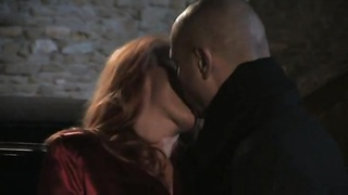 Drunk redhead Italian MILF having sex by candlelight