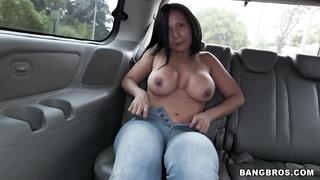 Colombian butt-hole in Colombian bus