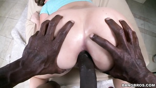 Enormous overweight ebony dick in precisely the young exquisite white complete asshole