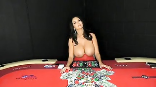 busty MILF gets her first gangbang