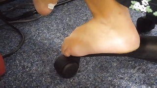 Candid stinky calm soles on work aspect 2