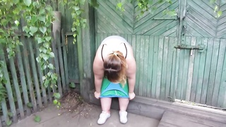 Fat, Russian Woman By A Mobile Phone Hairy, Pissing Standing;)