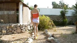 Peeing of sexually aroused croatian teenager