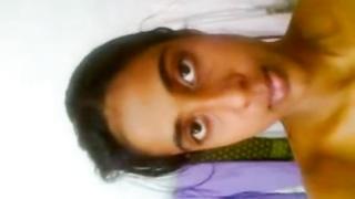 South Indian Slim Desi College girl