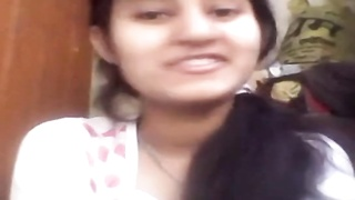 Cute Indian Girl Showing Her Boobs