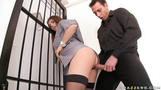Adorable Roberta Gemma and Nick Lang bait precisely the hook in elevator