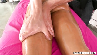 Lisa Ann is getting your hands on exactly the wonderful and deep therapeutic massage
