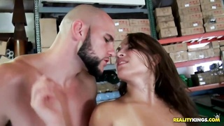 Babe gets fucked on a pool table