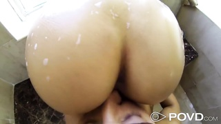 Asian Girl getting fucked in the shower