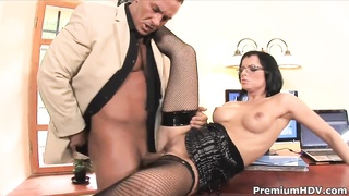Sexy secretary Renata Black gets her ass fucked