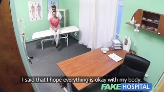 FakeHospital Nympho brunette teen is back in office