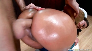 James Deen humping bung-hole of Nikita Denise