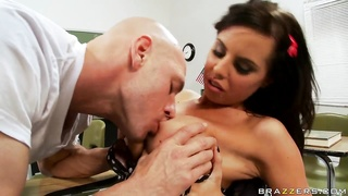 Brandy Aniston will be fucked in her cunt right in a class room!