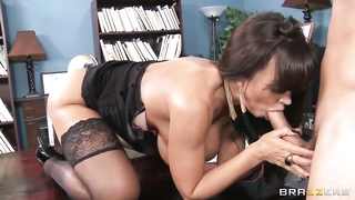 Danny Mountain gets pleasured by horny Lisa Ann