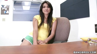 Teen Mexican girl Aj Estrada becomes naked