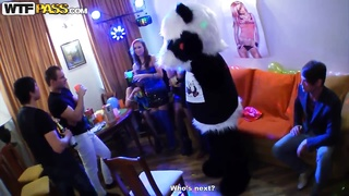 Crazy college coeds hook-up at a violent birthday celebration