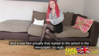 FakeAgentUK Petite redhead with great tits and pert ass
