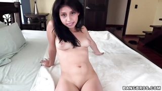 Petite Colombian preparing for exactly the Monster Penis