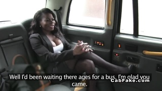Interracial anal in fake taxi ebony british