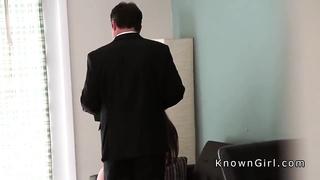 Busty girlfriend cheating homemade sex tape