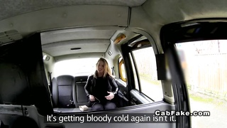 British blonde deep throats huge dick in cab taxi reality